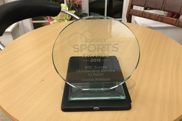 The BBC Surrey Outstanding Service to Sportaward