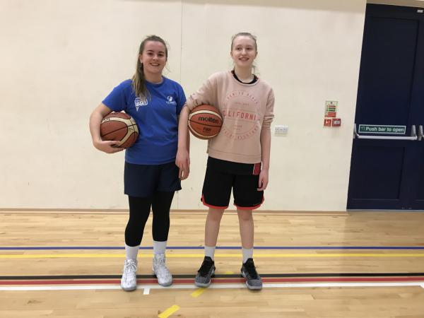 Beth (left) and Katie were best free-throw shooters this week